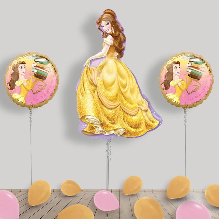 Inflated Disney Belle Beauty and the Beast Helium Balloon Package in a Box