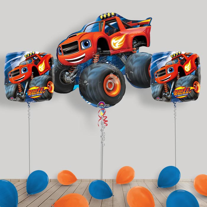 Inflated Blaze and the Monster Machines Helium Balloon Package in a Box