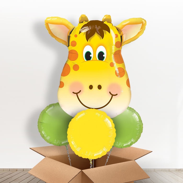 Giraffe Head Giant Shaped Balloon in a Box Gift