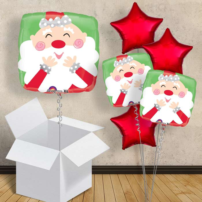 "Santa and Reindeer | Christmas 18"" Balloon in a Box"
