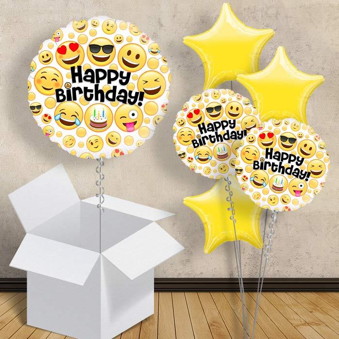 Emoji Happy Birthday 18 Balloon In A Box