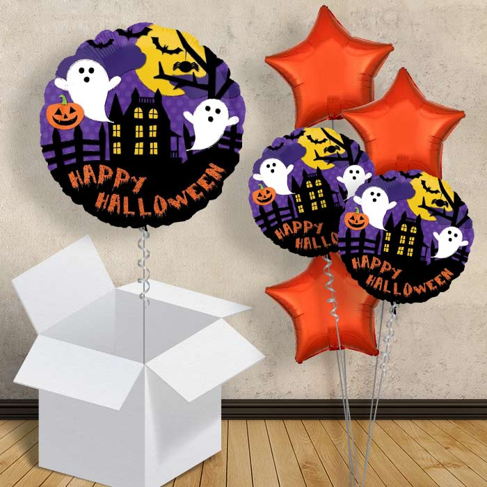 "Happy Halloween Bat and Ghosts 18"" Balloon in a Box"
