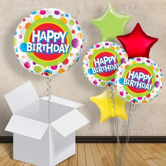 Happy Birthday Dots 18 Balloon In A Box