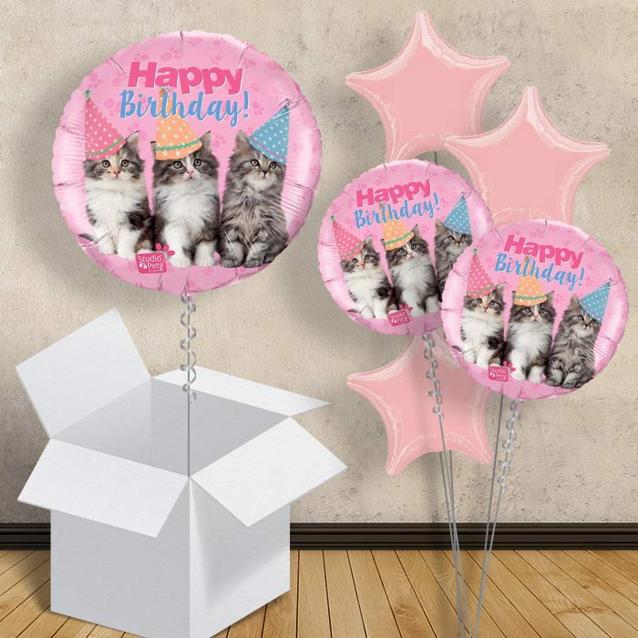 "Kittens Happy Birthday 18"" Balloon in a Box"