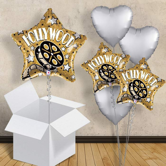 "Hollywood Gold Star 18"" Balloon in a Box"
