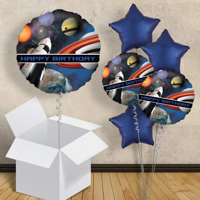 "Space Blast Happy Birthday 18"" Balloon in a Box"