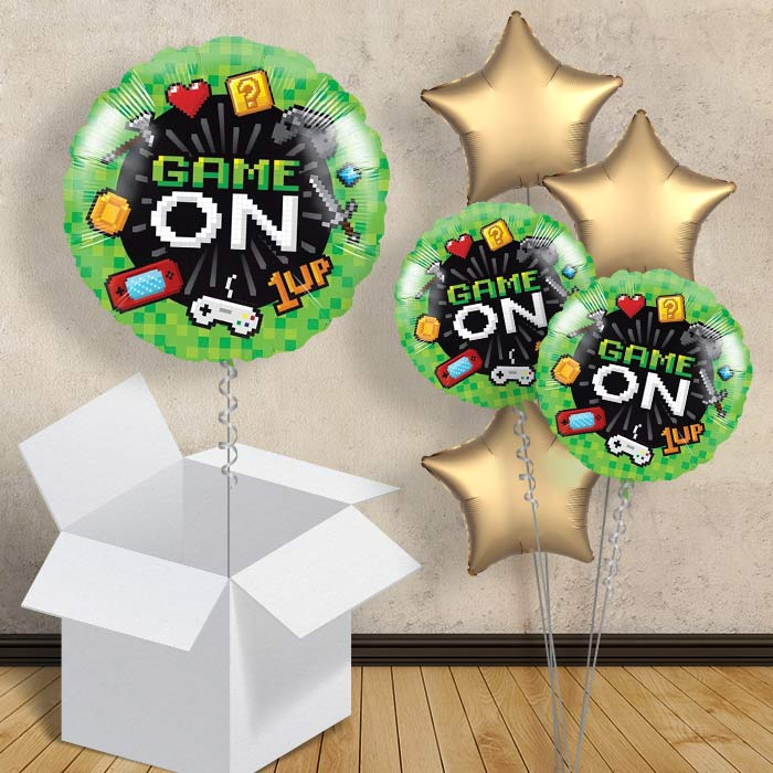 "Gaming | Game On Party 18"" Balloon in a Box"
