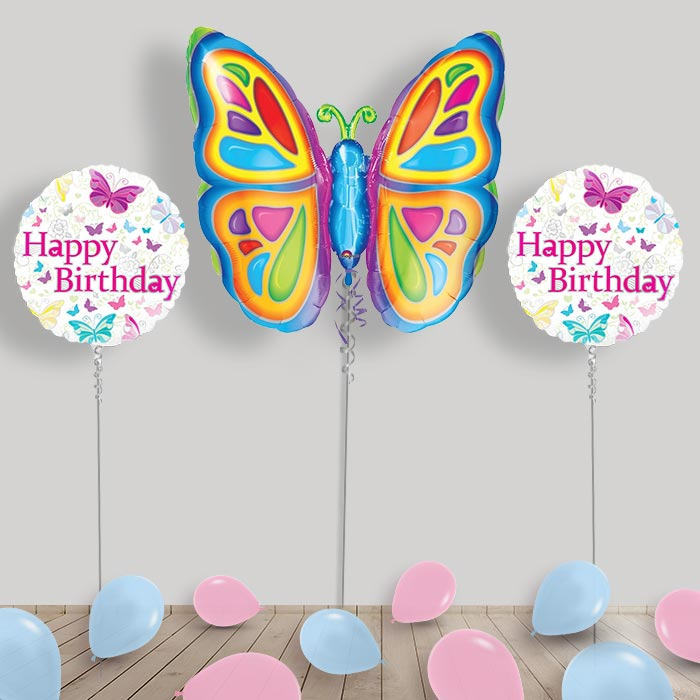 Inflated Butterfly Helium Balloon Package in a Box