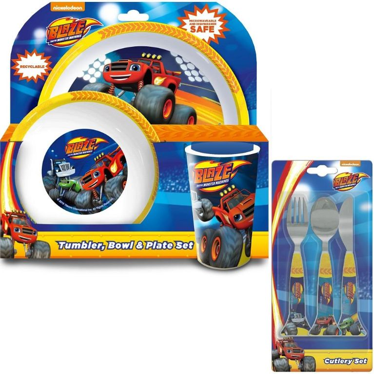 Blaze & the Monster Machines Mealtime Tumbler, Bowl, Plate and Cutlery Kit