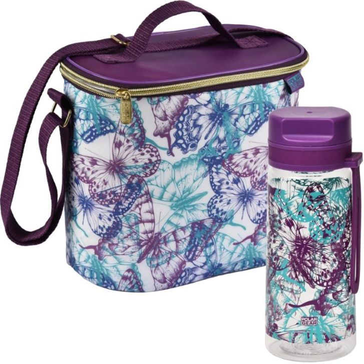 Butterfly Packed Lunch Cooler Bag and Bottle Kit