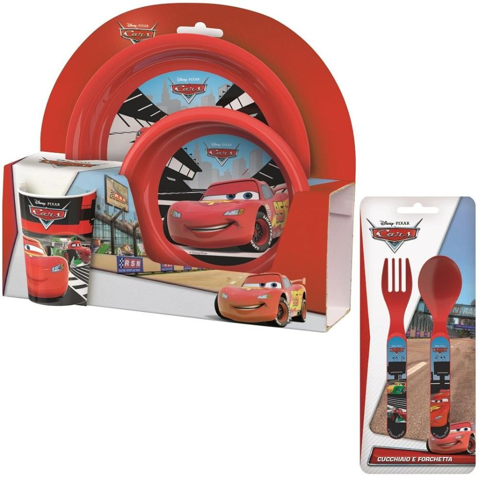 Disney Cars Mealtime Tumbler, Bowl, Plate and Cutlery Kit