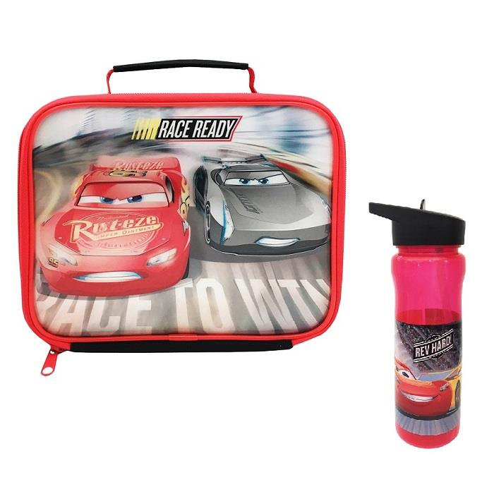 Disney Cars 3 Race Ready School Lunch Bag and Bottle Kit