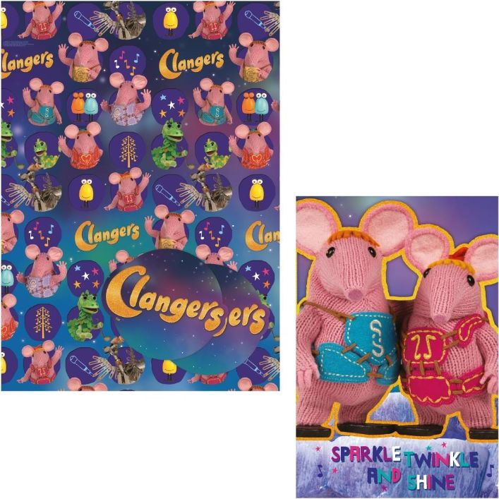 Clangers Giftwrap Gift Tags And Birthday Card
