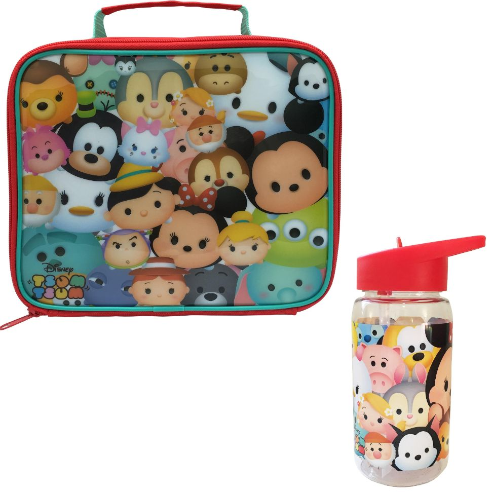 Disney Tsum Insulated Lunch Bag and Tritan Drinks Bottle
