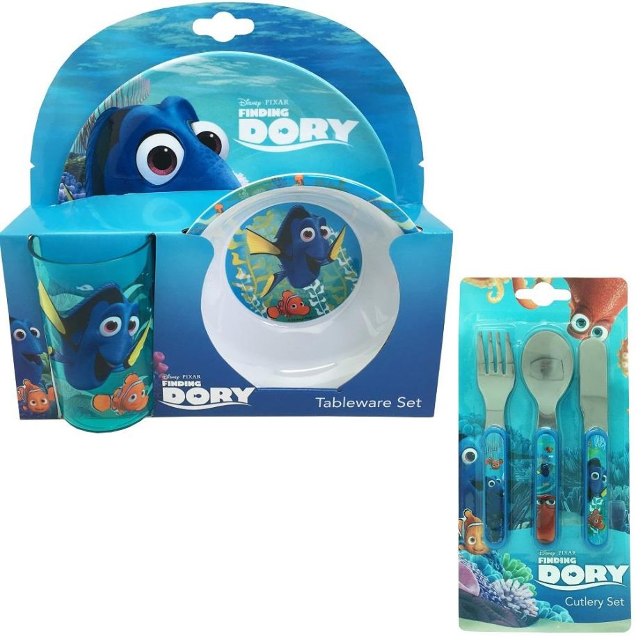 Finding Dory Mealtime Tumbler, Bowl, Plate and Cutlery Kit
