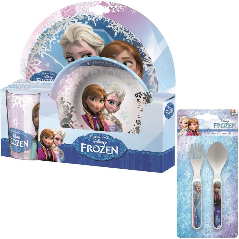 Disney Frozen Mealtime Tumbler, Bowl, Plate and Cutlery Kit