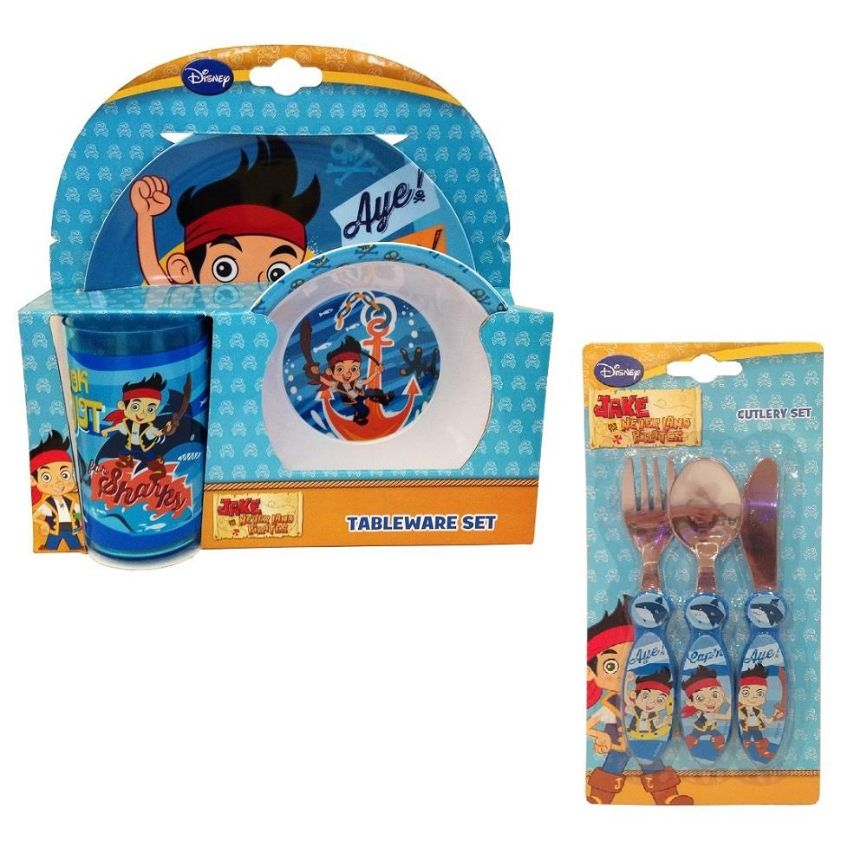 Jake and the Neverland Pirates Mealtime Tumbler, Bowl, Plate and Cutlery Kit