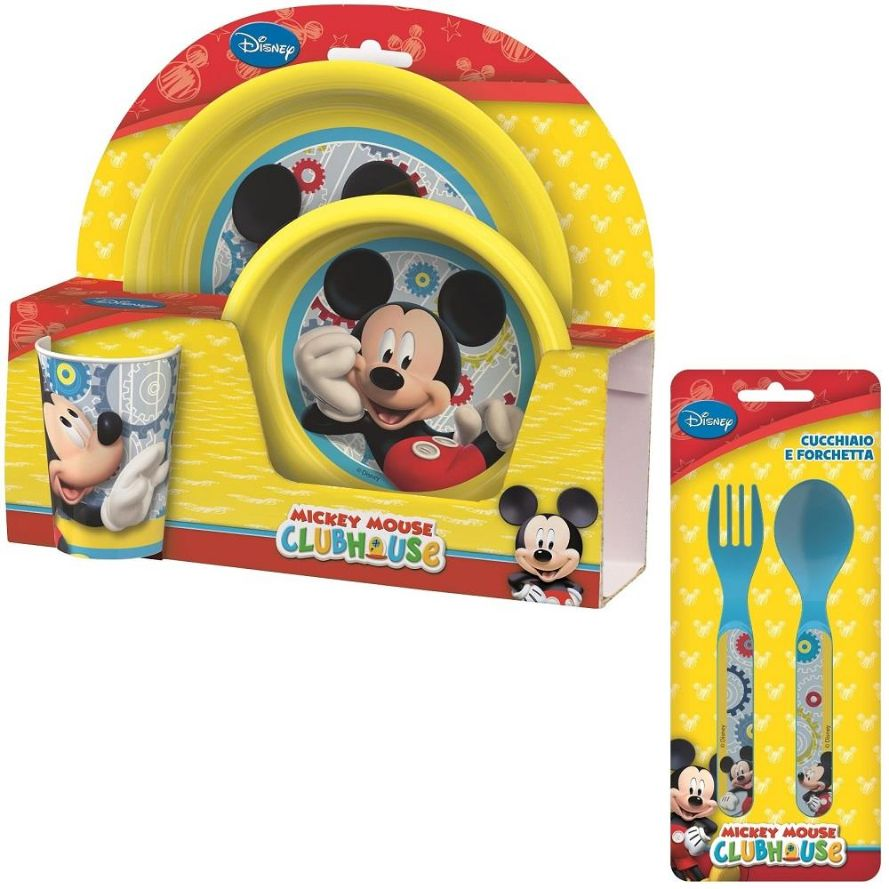 Mickey Mouse PP Mealtime Tumbler, Bowl, Plate and Cutlery Kit