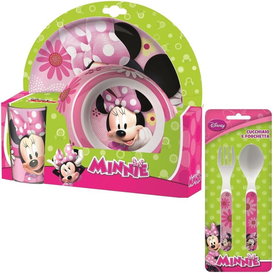 Minnie Mouse Mealtime Tumbler, Bowl, Plate and Cutlery Kit