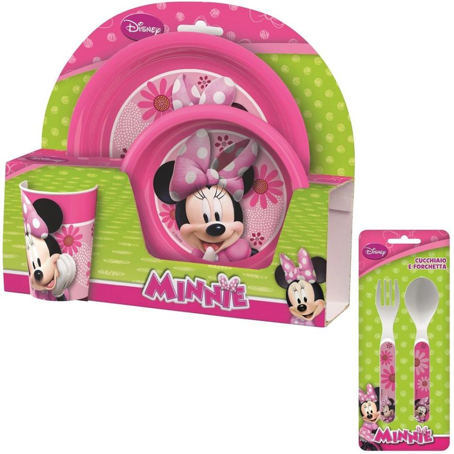 Minnie Mouse PP Mealtime Tumbler, Bowl, Plate and Cutlery Kit