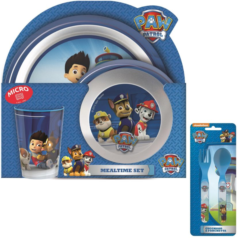 Paw Patrol Mealtime Tumbler, Bowl, Plate and Cutlery Kit