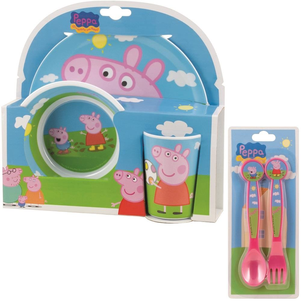 Peppa Pig Mealtime Tumbler, Bowl, Plate and Cutlery Kit
