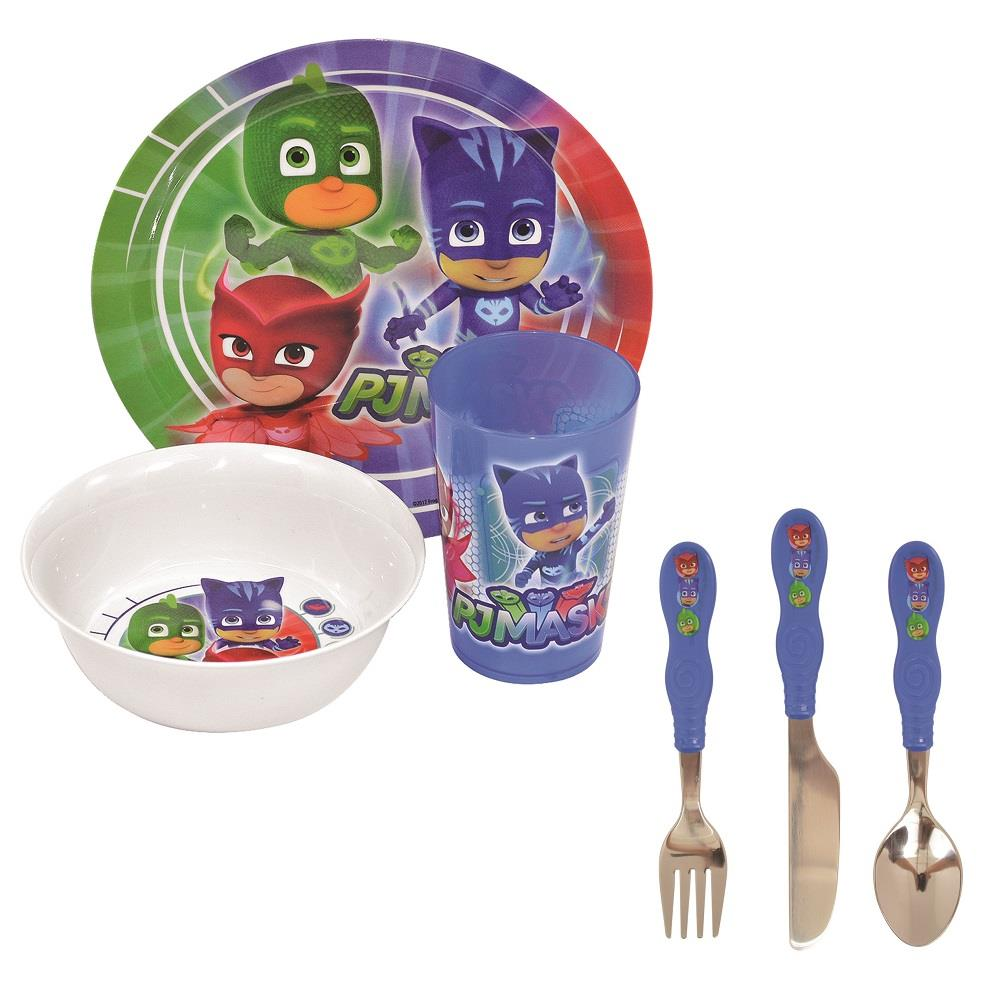 PJ Masks Mealtime Tumbler, Bowl, Plate and Cutlery Kit