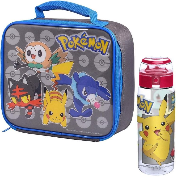 Pokemon | Pikachu Insulated School Lunch Bag and Drinks Bottle Kit