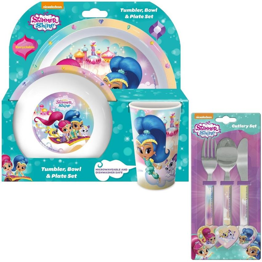 Shimmer & Shine Mealtime Tumbler, Bowl, Plate and Cutlery Kit