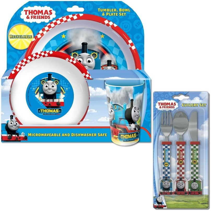 Thomas & Friends Speed Mealtime Tumbler, Bowl, Plate and Cutlery Kit