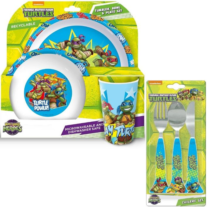 Turtles Mealtime Tumbler, Bowl, Plate and Cutlery Kit