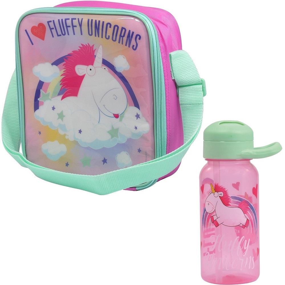 Minion Unicorn Insulated Lunch Bag and Twist Bottle Kit