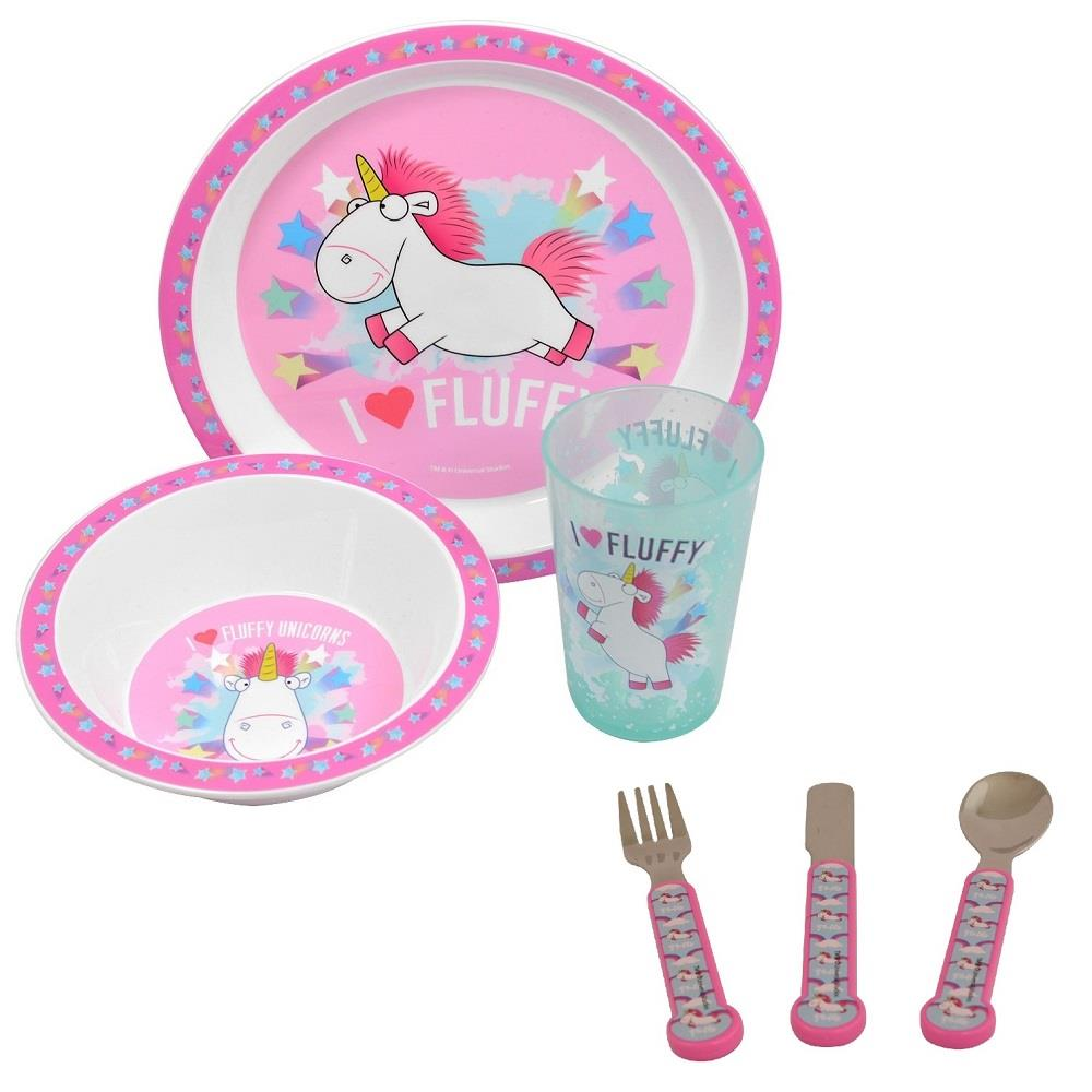 Unicorn PP Mealtime Tumbler, Bowl, Plate and Cutlery Kit
