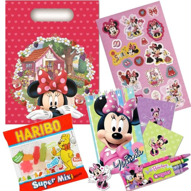 Minnie Mouse Jam Party Bag Kit | Stationery | Stickers | Sweets