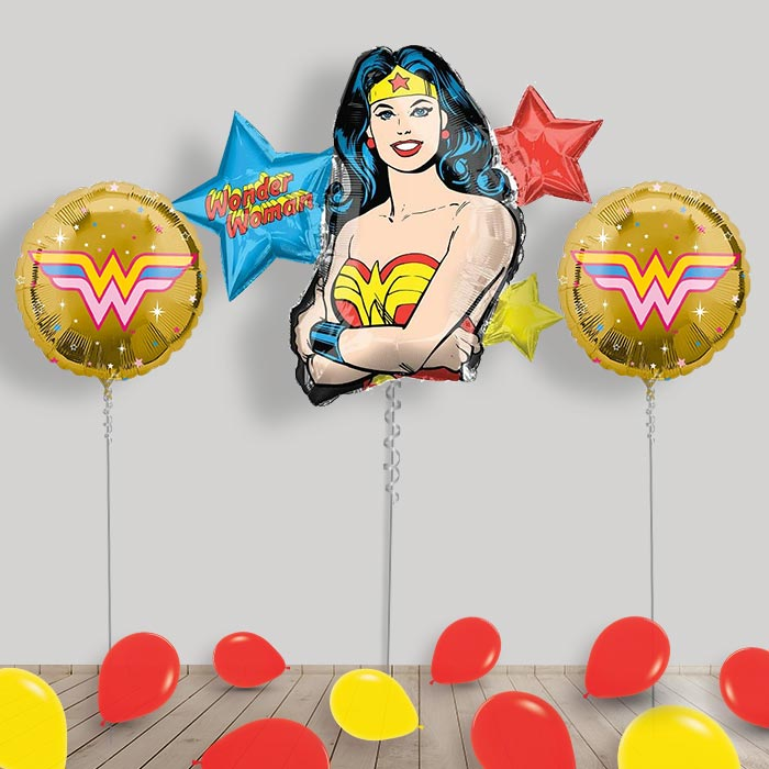 Inflated DC Super Hero Girls Helium Balloon Package in a Box