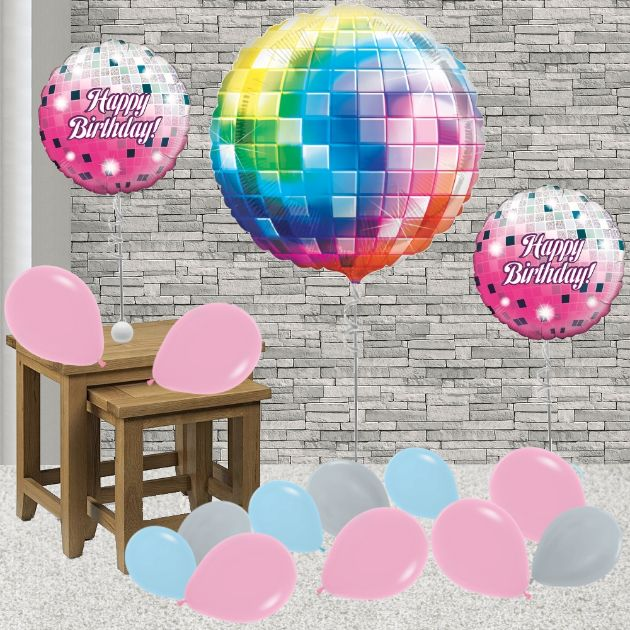 Inflated Disco Ball Helium Balloon Package in a Box