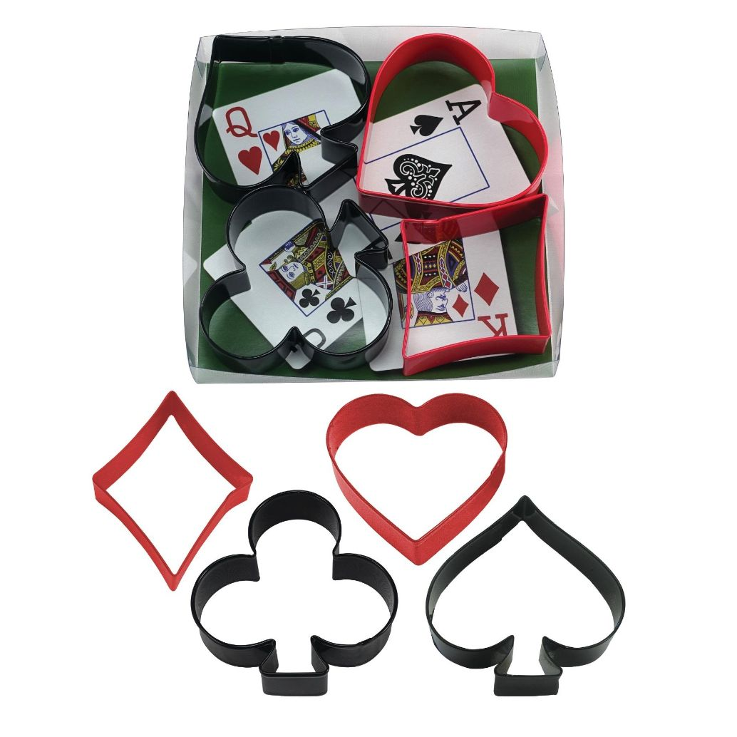 Casino Card Night Shaped Cookie Cutters