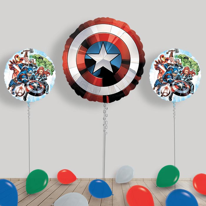 Inflated Marvel Avengers Helium Balloon Package in a Box
