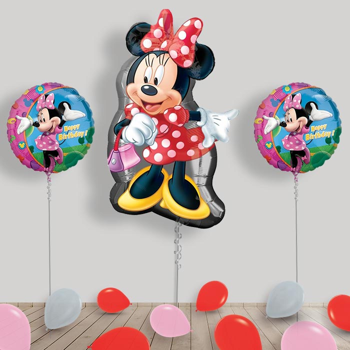 Inflated Disney Minnie Mouse Helium Balloon Package in a Box