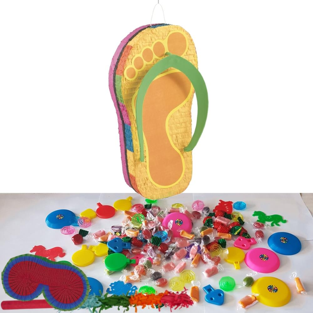 Flip Flop Hawaiian Pinata Party Kit With Sweets Favours And
