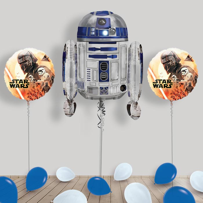 Inflated Star Wars R2D2 Helium Balloon Package in a Box