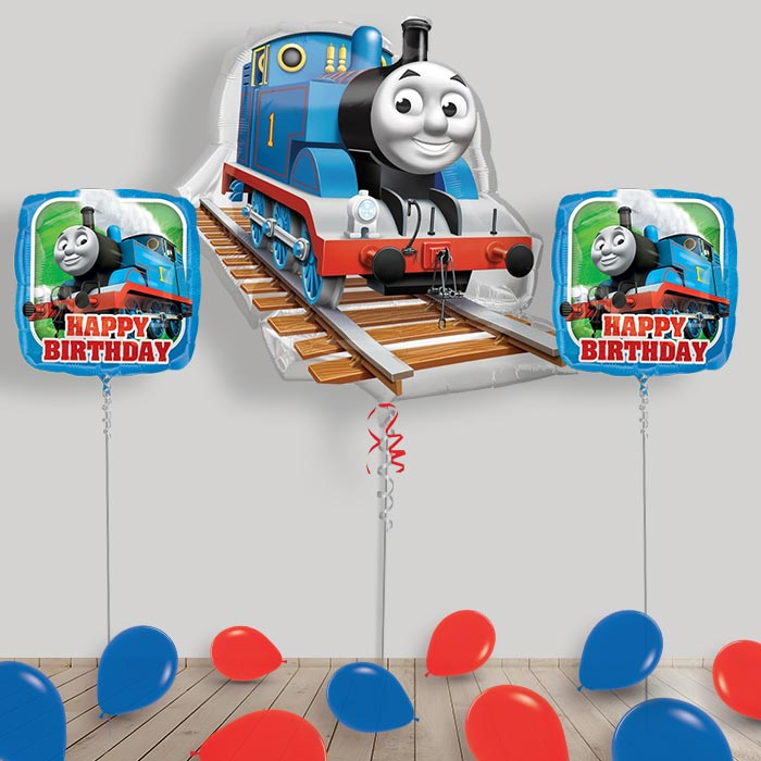 Inflated Thomas the Tank Engine Helium Balloon Package in a Box
