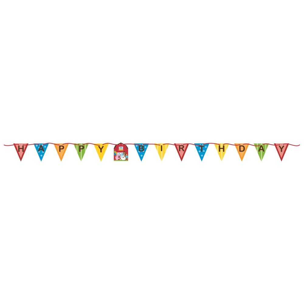 Farmhouse Fun Happy Birthday Banner