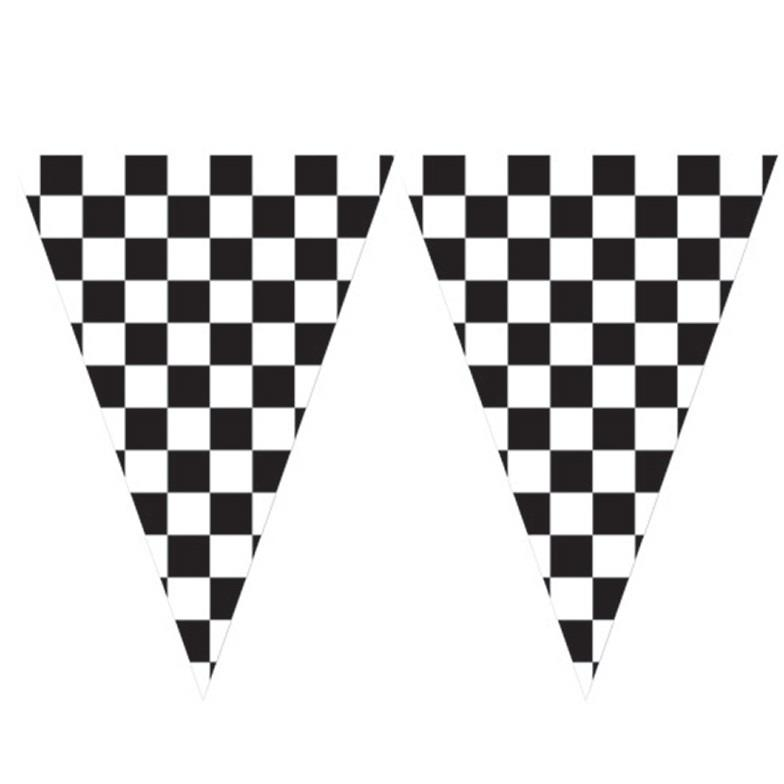 Chequered Flag Racing Flag Banner Bunting Decoration