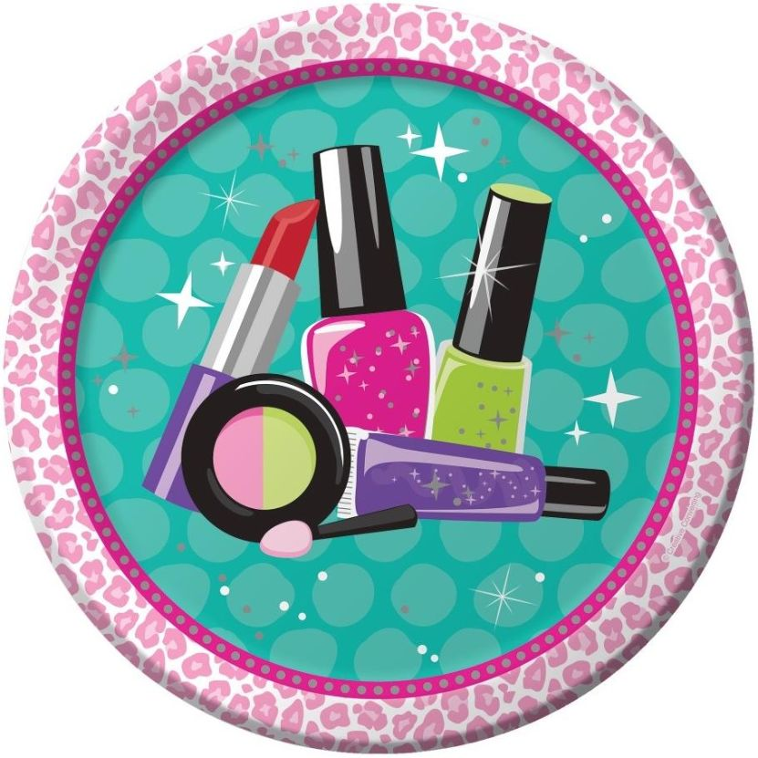 Sparkle Spa Party Plates