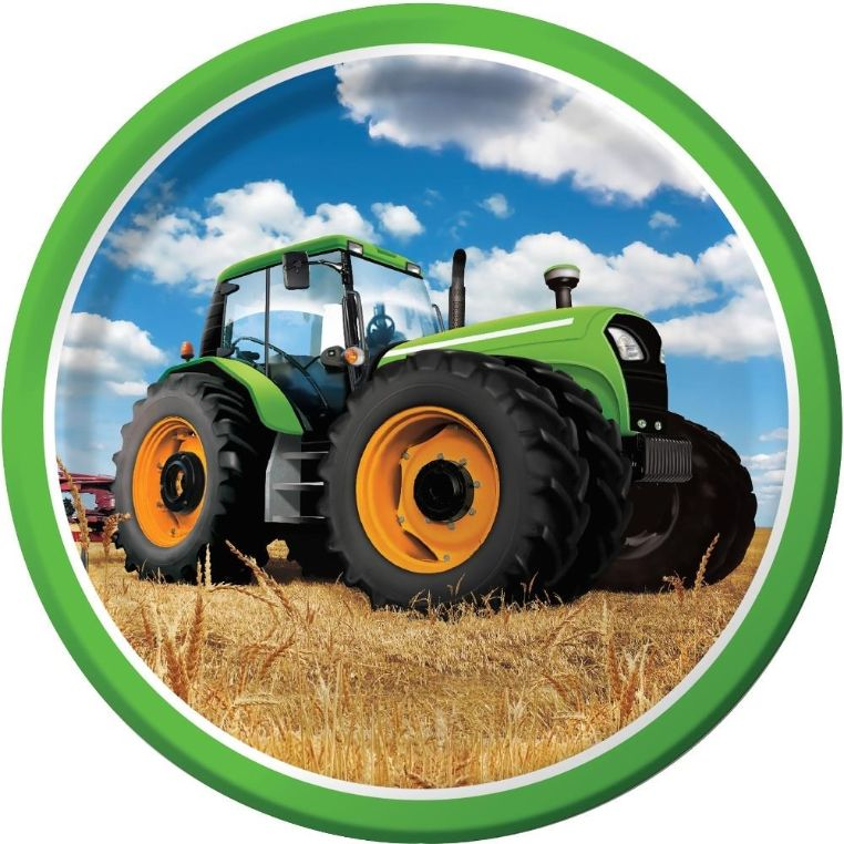 Tractor Time Party Plates