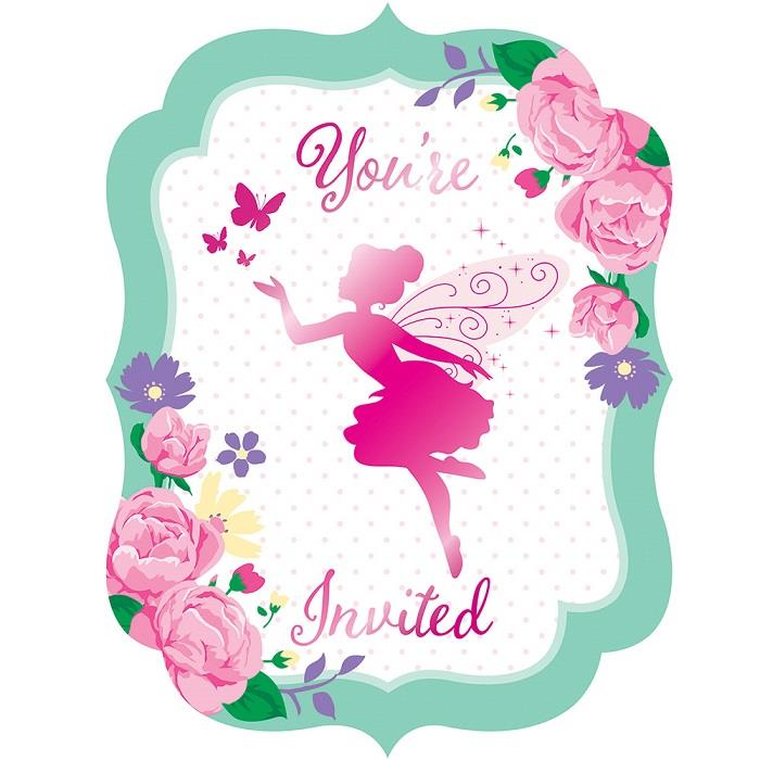 Floral Fairy Sparkle Party Invitations | Invites