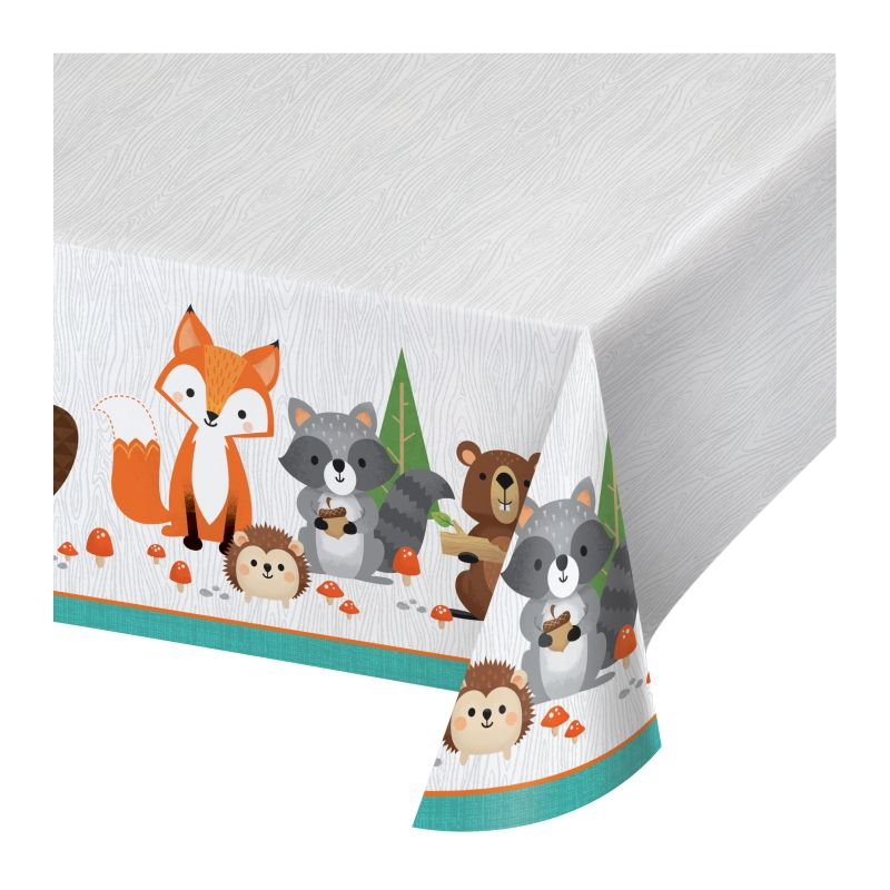Wild Woodland Animals Plastic Party Tablecover | Tablecloth