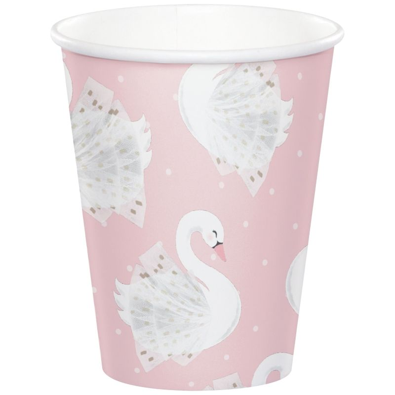 Stylish Swan Party Paper Cups