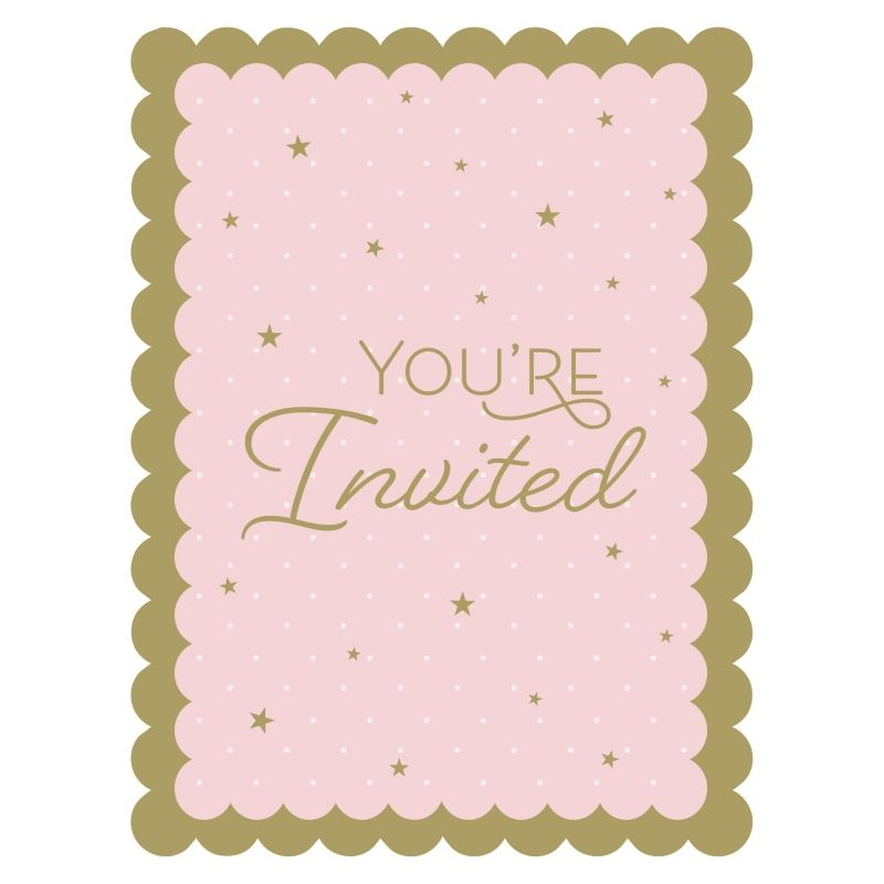 Stylish Swan Party Postcard Invitations | Invites with Envelopes